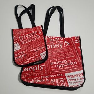 Lululemon set of 2 shopping tote bags